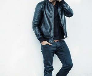 classy, leather, and men image