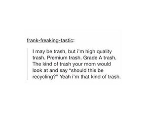 funny, garbage, and trash image