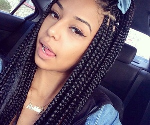 braid, black, and hair image