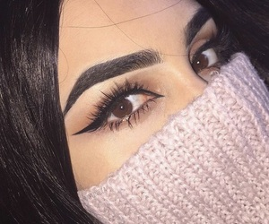 eyeliner, brows, and makeup image