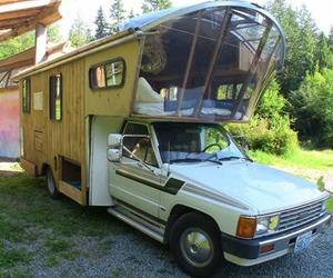 camping, funny, and van image