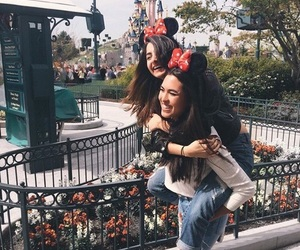 girl, disneyland, and friends image