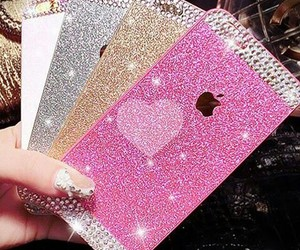 cover, pink, and glitter image