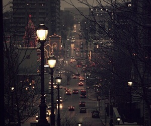 city, light, and night image