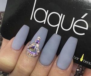 grey, matte, and nails image