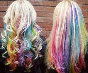 arcobaleno, raimbow hair, and capelli arcobaleno image