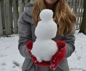 cold, snowman, and snow image
