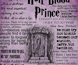 harry potter, half blood prince, and quotes image