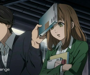 kakeru, naho, and anime school image