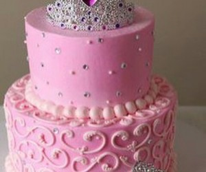 birthday cake, crown cake, and cake image