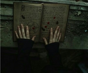 witch, book, and magic image