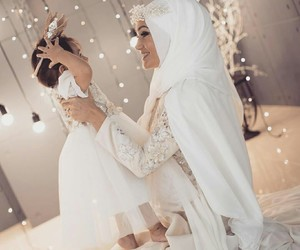 baby, hijab, and girl image