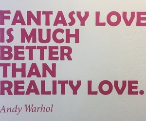 andy warhol, fantasy, and quote image