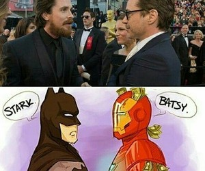 batman, iron man, and funny image