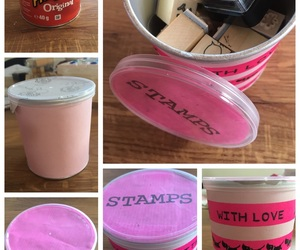 can, diy, and pink image