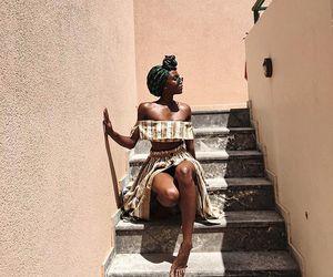 black woman, brown, and fashion image