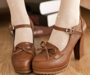 brown, shoe, and cute image