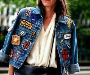 style, jacket, and denim image