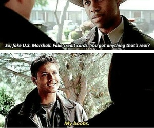 funny, supernatural, and dean image