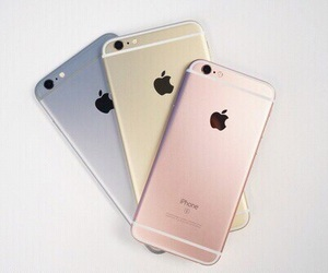 iphone, apple, and gold image