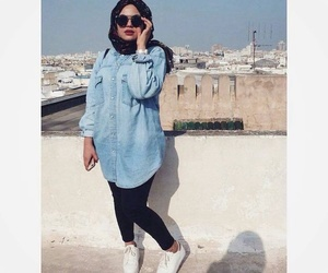 hijab, outfit, and jean image