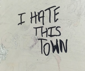 black, hate, and small town image