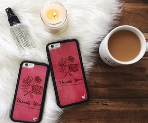 candle, case, and coffee image