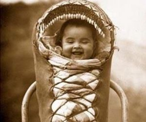 baby and native american image