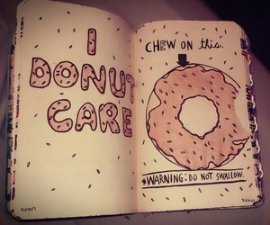 donut, wreck this journal, and wtf image