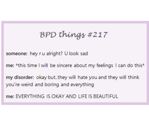 25 images about BPD on We Heart It | See more about quotes