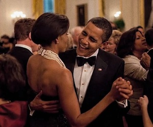 barack, dancing, and michelle image