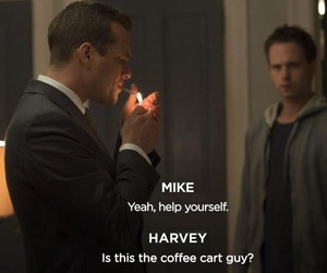 harvey, mike, and suits image