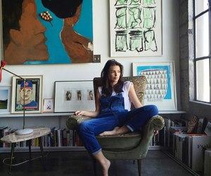 art, girl, and model image
