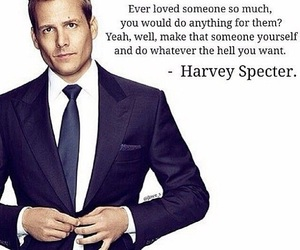 quote, suit, and harvey specter image