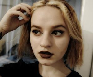 black, blonde, and brown image