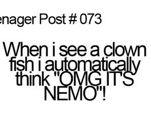 nemo, teenager post, and fish image