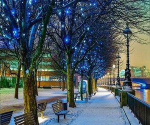 light, snow, and nature image