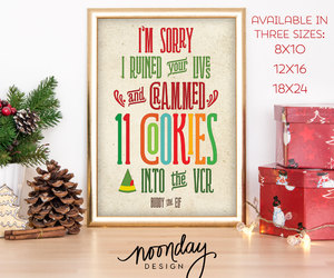 etsy, red, and christmas poster image