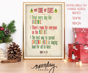 graphic design, funny holiday art, and buddy the elf art image