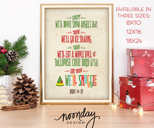 etsy, happy, and buddy the elf art image