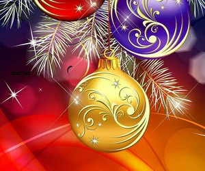 christmas, white, and yellow image