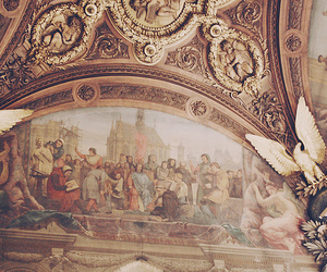 art, ceiling, and france image