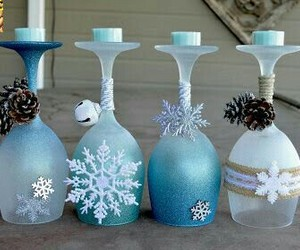 blue, wine glasses, and christmas image