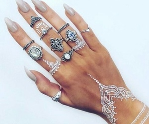 awsome, henna, and rings image