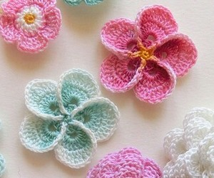 colours, crochet, and crocheting image