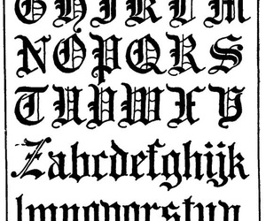 alphabet, calligraphy, and lettering image