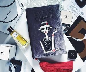book, make up, and perfume image