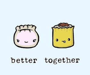 better together and food image
