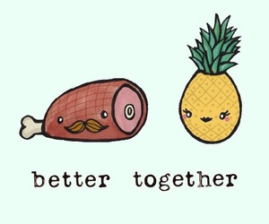 food, better together, and ham image