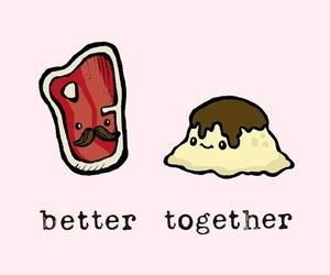 better together, food, and cute image